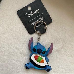 Disney loungefly sushi Lilo & stitch keychain